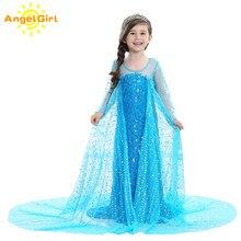 AngelGirl 2020 çocuk kız prenses elbise noel yaz zarif prenses kız kostüm Cosplay forHalloween ve Chris doğum günü partisi