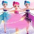 Controle de indução flyingly princesa ballet bonecas brinquedo, mini flyingly fada boneca rc zangão brinquedos menina presente das crianças brinquedos