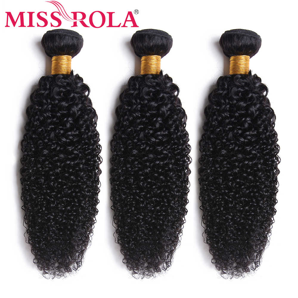 Miss Rola pelo malayo rizado pelo ondulado paquetes 8-26 pulgadas 100% cabello humano 3 piezas no- extensiones de Cabello Remy Color Natural