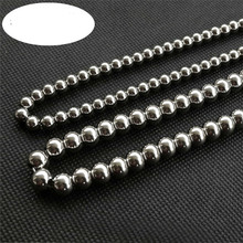 2019 Jewellery Men Pearl Necklace Man Accessories Large Manual Punk Male Link Chain Long Necklaces