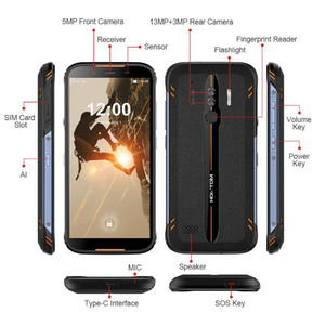 """Image 2 - Original HOMTOM HT80 IP68 Waterproof Smartphone 4G LTE Android 10 5.5"""" 18:9 HD+ MT6737 NFC Wireless charge SOS Mobile phone"""