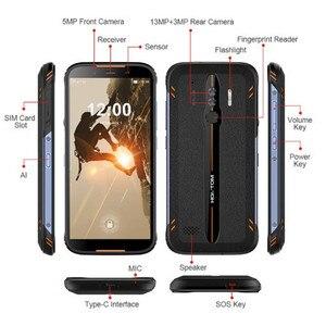 """Image 2 - Original homtom ht80 ip68 à prova dlágua smartphone 4g lte android 10 5.5 """"18:9 hd + mt6737 nfc carga sem fio sos telefone móvel"""
