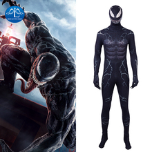 Manluyunxiao Venom Cosplay Halloween Costumes For Men Adult Marvel Superhero Edward Eddie Brock Black Suit Spiderman Custom Made
