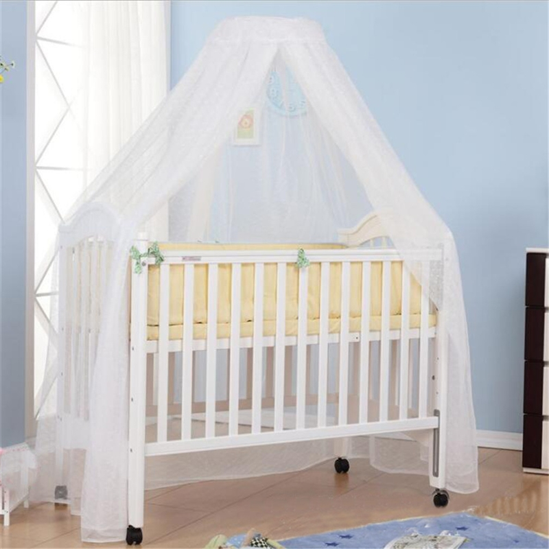 Baby Bed Mosquito Net Cover With Dome Lace Foldable Breathable Mesh Net With Royal Court Style Cribs Canopy
