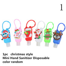 Silicone cute cartoon Owl/Panda/Santa Claus Mini Hand Sanitizer Disposable No Clean Detachable Cover Travel Portable Safe Gel