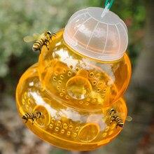 1 adet kabak şekli arı tuzak Wasp tuzak Fly sinekler böcek böcek bal kavanozu s asılı bal kavanozu tuzak Catcher