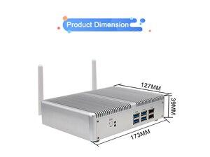 Image 4 - Eglobal Intel Core i7 i5 7200U i3 7100U Fanless Mini PC Windows 10 Pro Barebone Computer DDR4/DDR3 2.4GHz 4K HTPC WiFi HDMI VGA