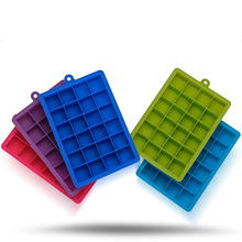 24 Even Square Ice Cube Tray Molds Block Food Grade Silicone Lattice Mold Three-dimensional Chocolate Cake Baking