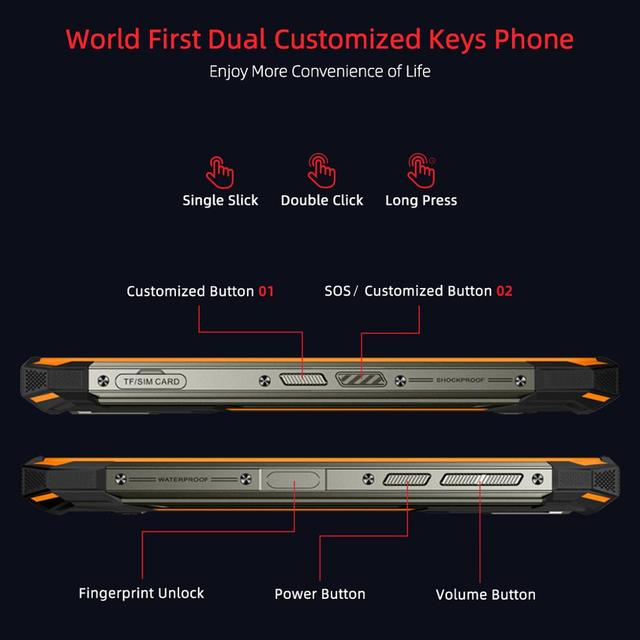 IP68/IP69K DOOGEE S88 Pro Rugged Mobile Phone 10000mAh telephones Helio P70 Octa Core 6GB RAM 128GB ROM smartphone Android 10 OS 4