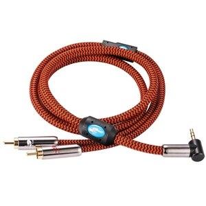 "Image 3 - Hifi Kabel Hoek Mini Jack 3.5Mm Naar Dual Rca Voor Pc Auto Hoofdtelefoon Mobile Sound Box 1/8 ""Te 2 Rca Ofc Audio Kabel 1M 3M 5M 8M 10M"