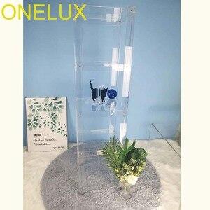 Image 3 - (Bằng Phẳng Đóng Gói) chất Liệu Acrylic 5 Kệ Mở Tủ Sách/Acrylic Trong Suốt Đa Năng Kệ Trưng Bày 40W 40D 152H Cm