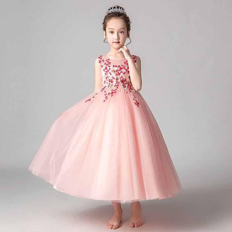 2019 Spring And Summer New Style Girls Princess Skirt Long Puffy Grenadine Children Dress Wedding Dress Big Boy Gauze Skirt