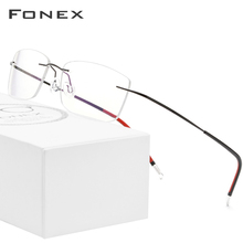 FONEX B Pure Titanium Rimless Optical Glasses Men Women Frameless Prescription Eyeglasses Frame Ultralight Myopia Eyewear