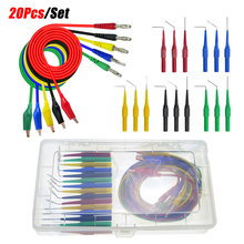 20pcs/set 2020 New 30V /1A SG Test Tool Aid 23500 Back Probe Kit Identified Probe for Autom