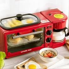 Машина для завтрака, тостер, духовка, бытовой интегрированный полностью автоматический многофункциональный тостер, духовка, Кофеварка