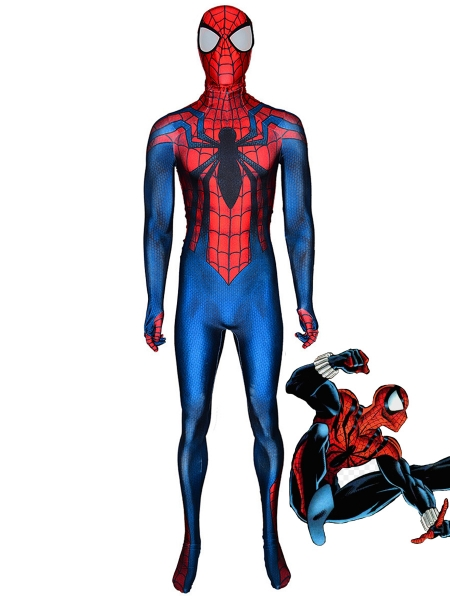 Ben Reilly Spider Cosplay Costume 3D Printing Spandex Spider Superhero Costume zentai Suit Free Shipping