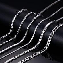Vnox 20 zoll Kette Halskette für Frauen Männer 316l Edelstahl Schmuck fit DIY Anhänger Zubehör