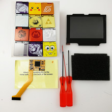 Ips lcd quente conjunto com pre-corte habitação para gameboy gba sp ips lcd v2 backlight tela com caso escudo para nintendo console