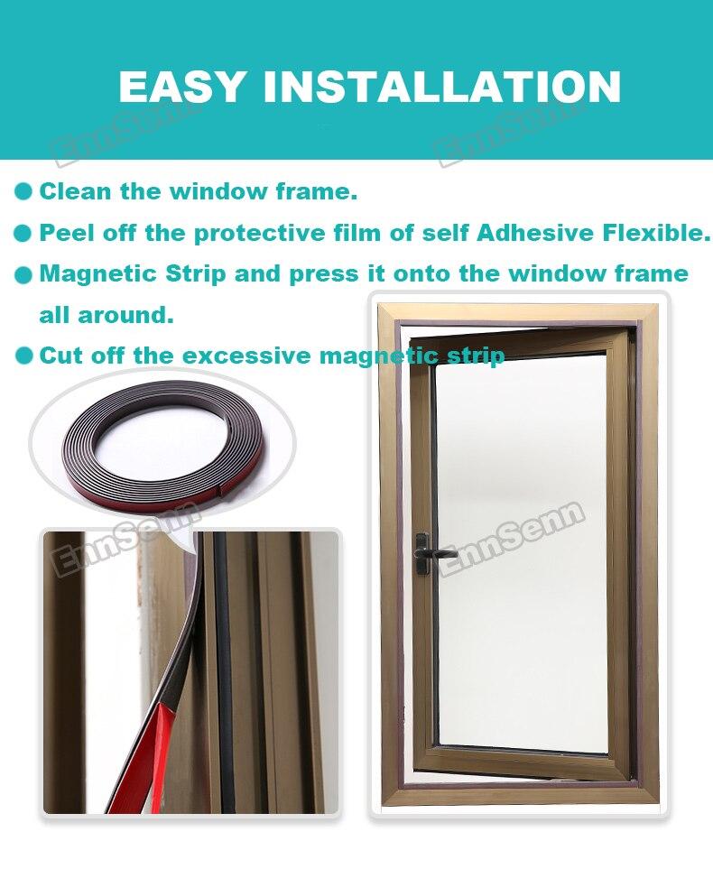 janela magnética para motorhomes removível lavável invisível