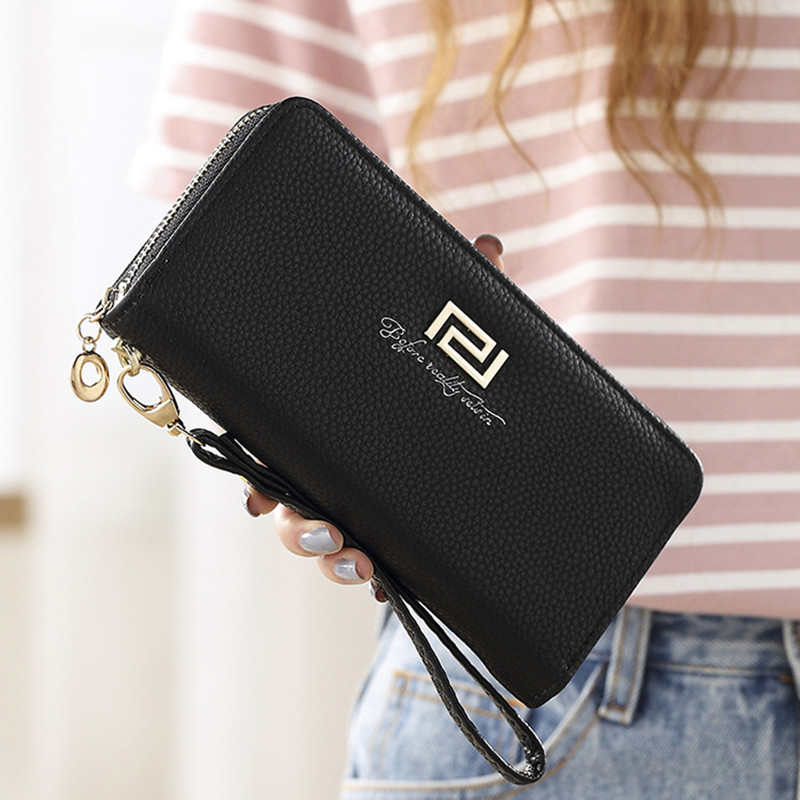 Woman's Wallet Long Zipper Luxury Brand Leather Coin Purses Tassel Design Clutch Wallets Female Money Bag Credit Card Holder 571