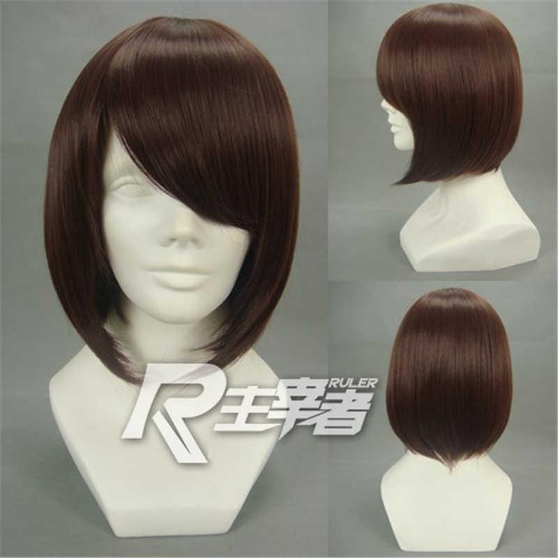 Vocaloid MEIKO Cosplay perruques marron court haute température fibre synthétique perruque de cheveux pour la fête d'halloween + filet de cheveux gratuit