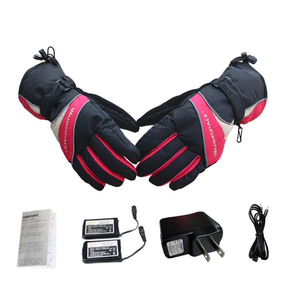 Heated Gloves Motocycle Indoor Battery Powered Five Fingers Hand Warmers Glove Liners Climbing Hiking Cycling Rechargeable