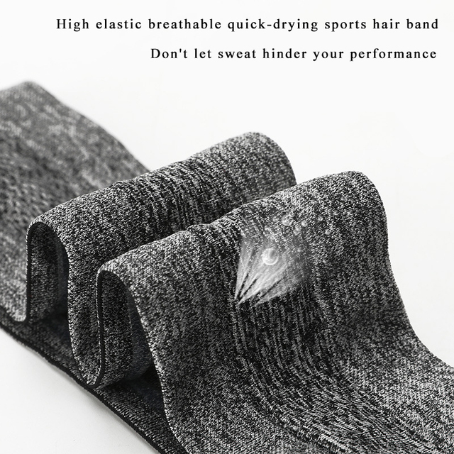 Sports headband men and women silicone sweat guide belt forehead scarf running basketball fitness yoga hair band 2