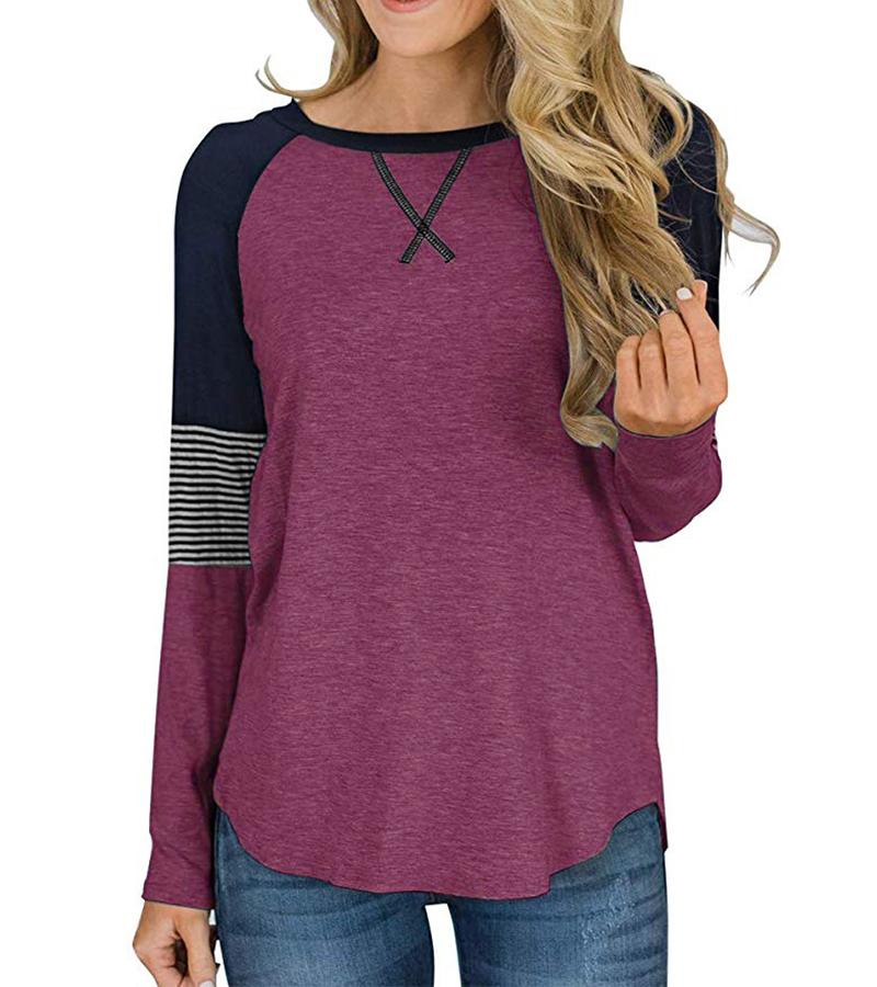 New Long Sleeve T Shirt Women Autumn Winter Round Neck Casual Loose Women T-shirt  Top Tee  Ladies tshirt  Female Clothes 2020 (2)