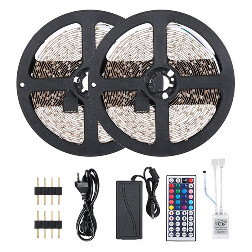 DC LED Light Strip 10M RGB 3528 Flexible Ribbon 44Key RGB Controller 12V LED Tape Neon Ribbon Bluetooth Control