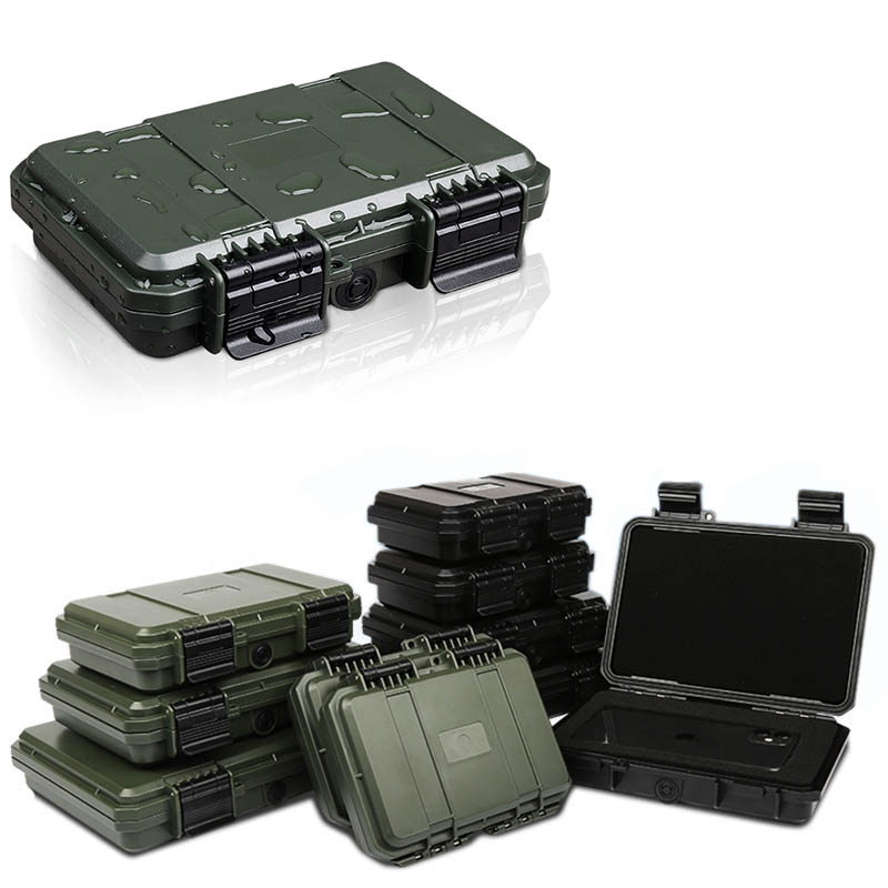 Shockproof Sealed Safety Case Toolbox Airtight Waterproof Tool Box Instrument Case Dry Box With Pre-cut Foam Lockable