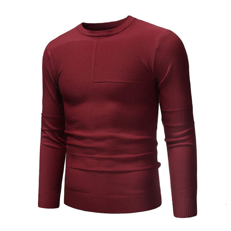 Men's Sweater New Fashion Tight Round Neck Tight Cotton Quality Men's Sweater Size XXXXL