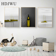 Simple Abstract Nordic Canvas Painting Wall Pictrue Art Home Printing Posters for Living Room AJ00478