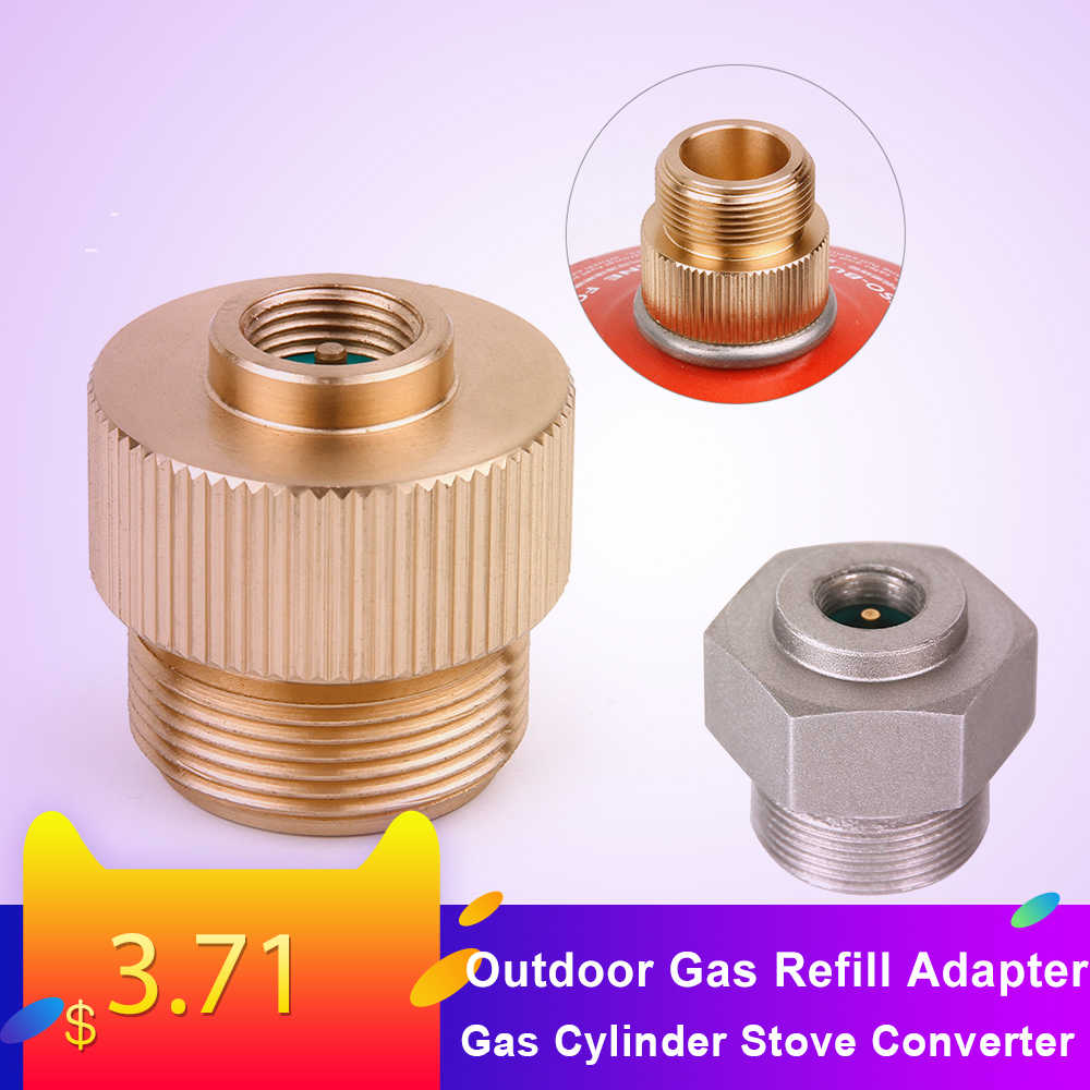 Outdoor Gas Refill Adapter Camping Stove Gas Cylinder Stove Converter Accessories MAPP Gas Refill Adapter for Hiking Camping
