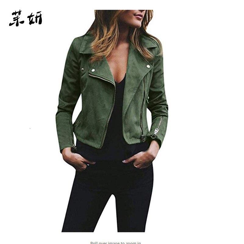 2019 Newest Coat Ladies Fashion Jackets Zip Up Biker Female Casual Coats Desigual Woman Flight Coat