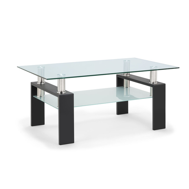 Living Room Furniture Double Layer  Rectangle Glass Coffee Table Clear Home Furniture Side Table Coffee Table For Living Room 5