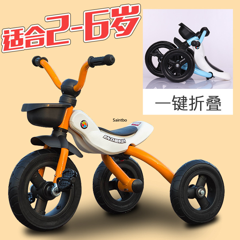Manufacturer's Direct Sales Pedal Tricycle Foldable And Installation Free Multi-function Tricycle For Children Aged 2-6