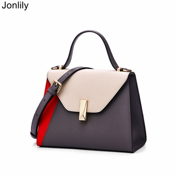 Jonlily Women Genuine Leather Shoulderbag Female High capacity Crossbody Messenger Bag Elegant Handbag Teens Daily Purse -KG243