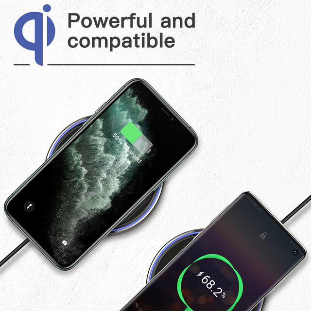 FDGAO 15W Fast Wireless Charger For Samsung Galaxy S20 S10 S9 Qi Induction Charging Pad for iPhone 12 Mini 11 Pro XS Max XR X 8 4