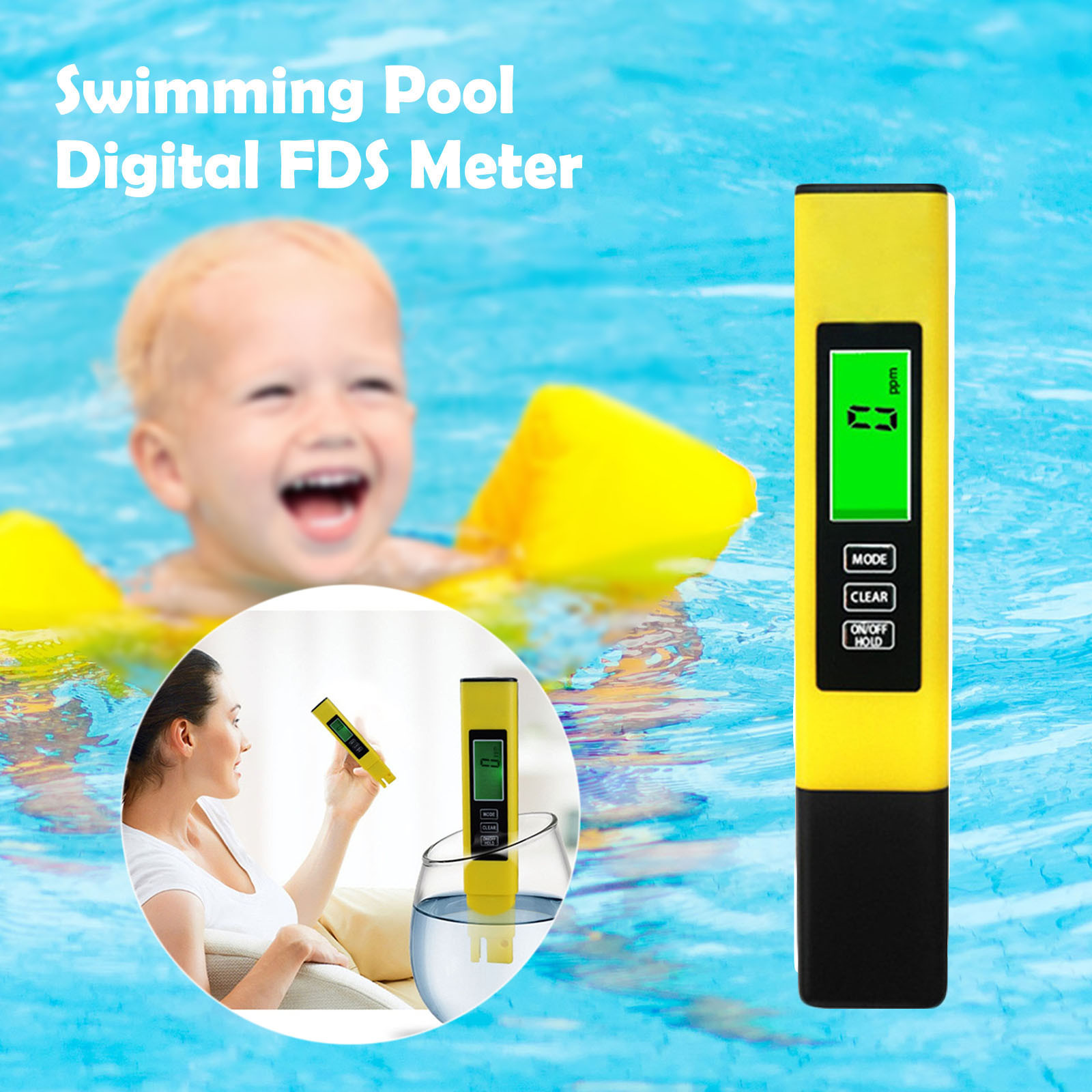 40# Water Quality Filter Tds-3 Meter Temp Ppm Digital Lcd Tester Tap Swimming Pool Water Testing Products Spa Pool Accessories