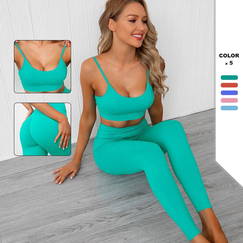 Running Gym Clothes Women Fitness Yoga Set New Seamless Sports Suit High Waist GYM Fitness Pants Sportswear Workout Bra+Leggings
