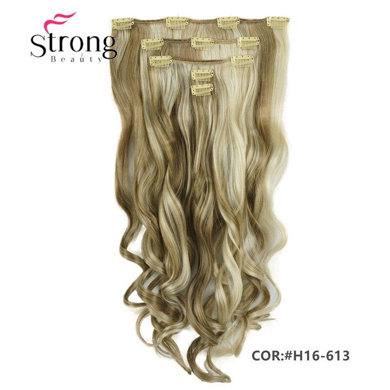Strong beauty long 20 polegadas encaracolado cabeça