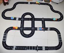 DIY PVC 퍼즐 트랙 플레이 세트 도시 도로 장난감 자동차 트랙 패턴 아기 게임 매트 층 카펫 학습 완구 북유럽 어린이 방 장식