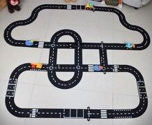 Diy pvc パズルトラック再生セット市道おもちゃの車トラックパターンゲームマット床カーペット学習おもちゃ北欧キッズルームのインテリア