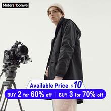 Metersbonwe Men 2019 Autumn Casual Long Jacket Trench Coats Men Fashion Hooded Solid Warm Windbreaker Pocket Trench Jacket(China)