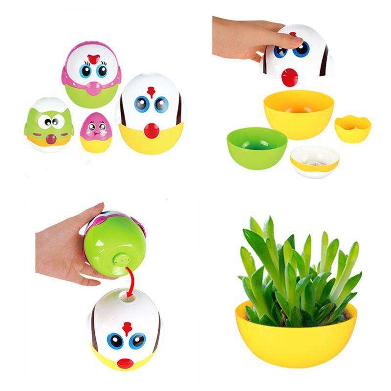 Brinquedos educativos ovo que nivela bonecas para a criança, aprendizagem pré escolar que empilham brinquedos para meninas do bebê e meninos - 4