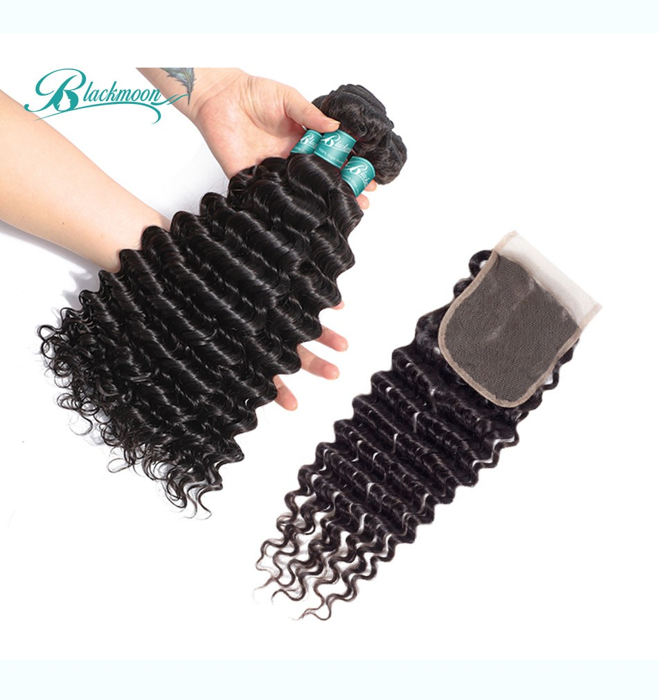 deep wave hair weave bundles with closure--3+4_05