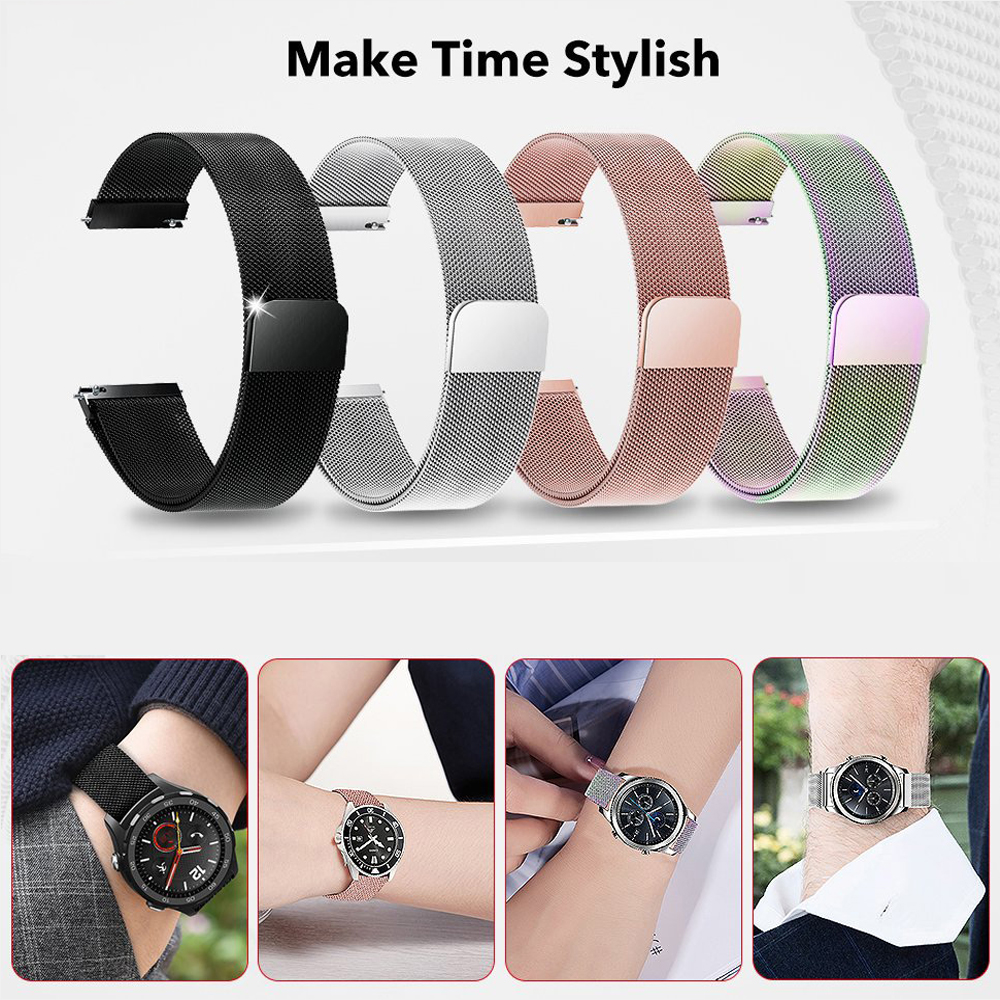 Galaxy <font><b>watch</b></font> 46mm strap für Samsung Getriebe S3 Frontier Milanese schleife <font><b>band</b></font> aktive 2 44/40mm huami amazfit bip Strap huawei GT2 <font><b>22mm</b></font> image
