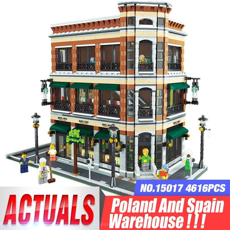 DHL 15017 Expert Città Street View 4616PCS Libreria Cafe Set Compatibile con il Modello Corredi di Costruzione di Blocchi di Mattoni Giocattoli Regali-in Blocchi da Giocattoli e hobby su  Gruppo 1