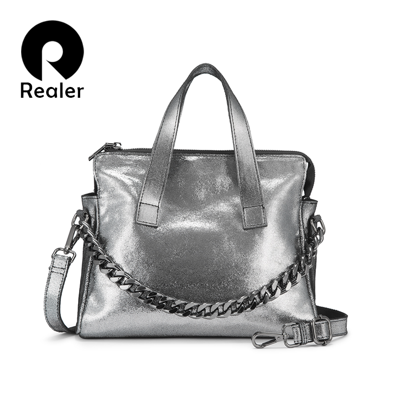 Realer Genuine Leather Bag Woman Handbags Female Shoulder Bag Crossbody Bags High Quality Leather Totes For Women Messenger Bag