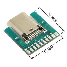 USB 3.1 Type C prise femelle connecteur Type SMT avec carte de circuit imprimé bricolage 24pin